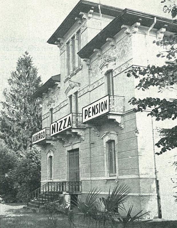 Albergo Nizza pensione Lugano foto in bianco e nero