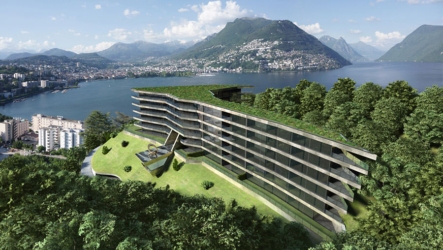Incantevoli immobili di prestigio in vendita a lugano for Design hotel tessin