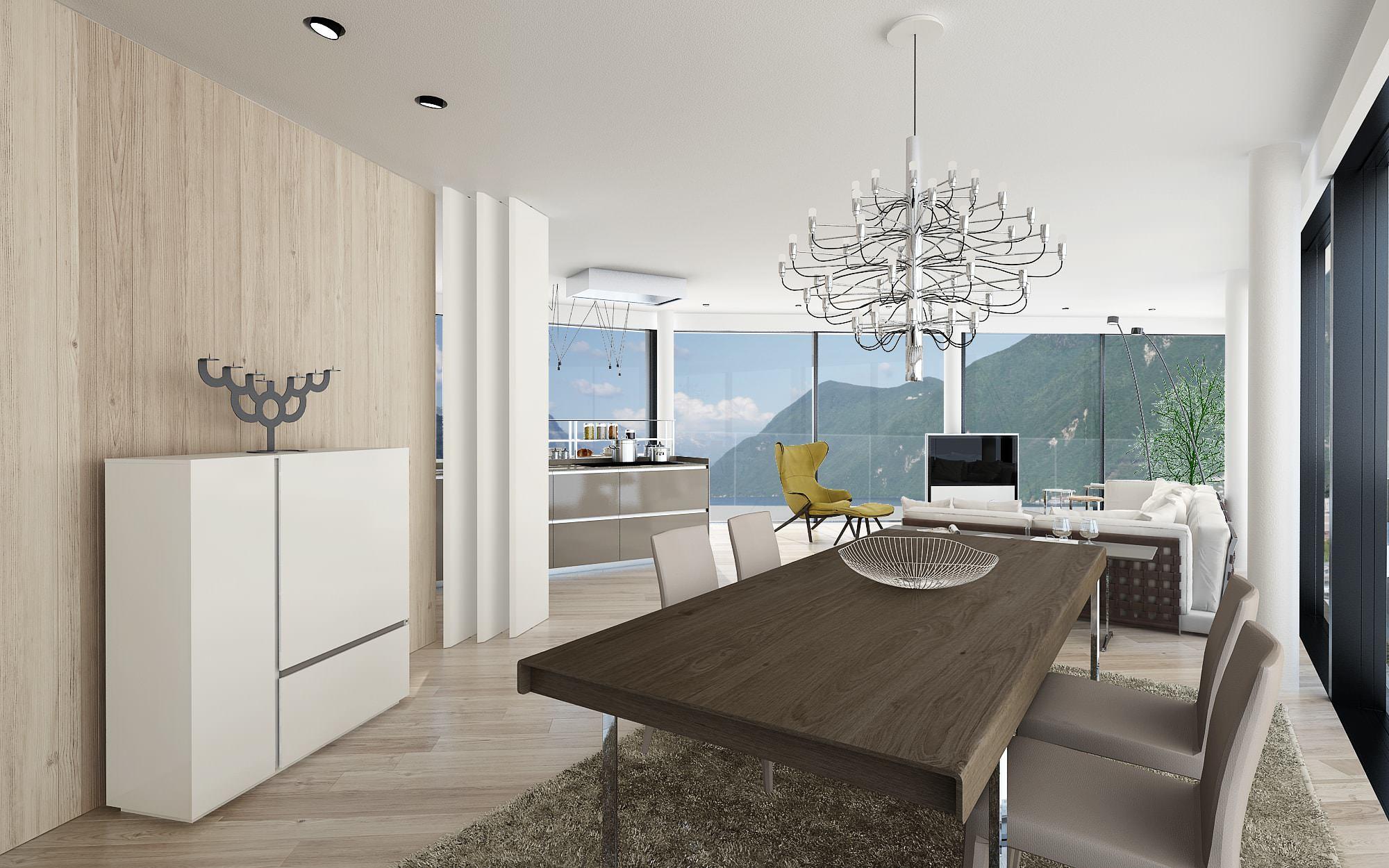 Soggiorno attico design Lugano Ticino Svizzera Nizza Paradise Residence
