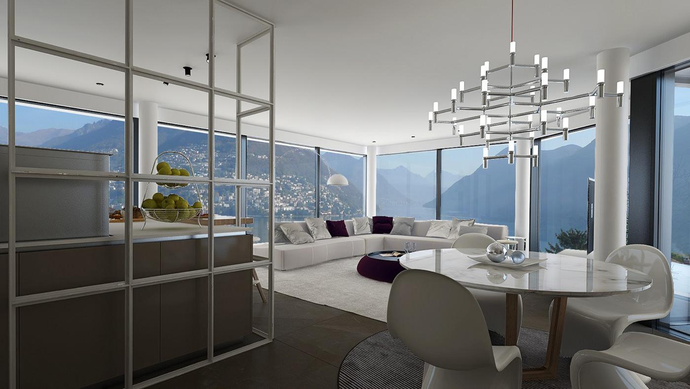 villa moderna svizzera