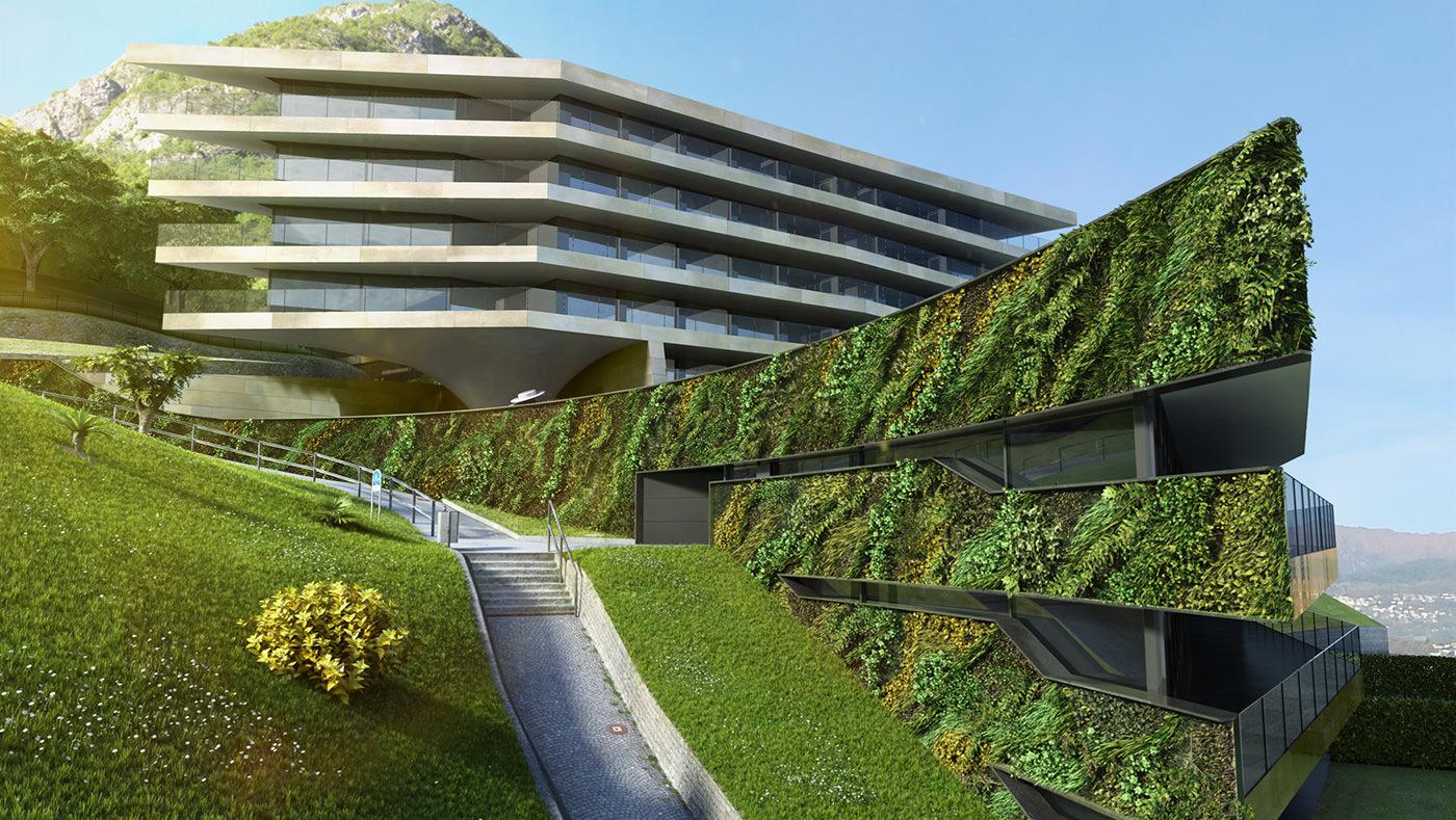 bioedilizia parete con giardino verticale