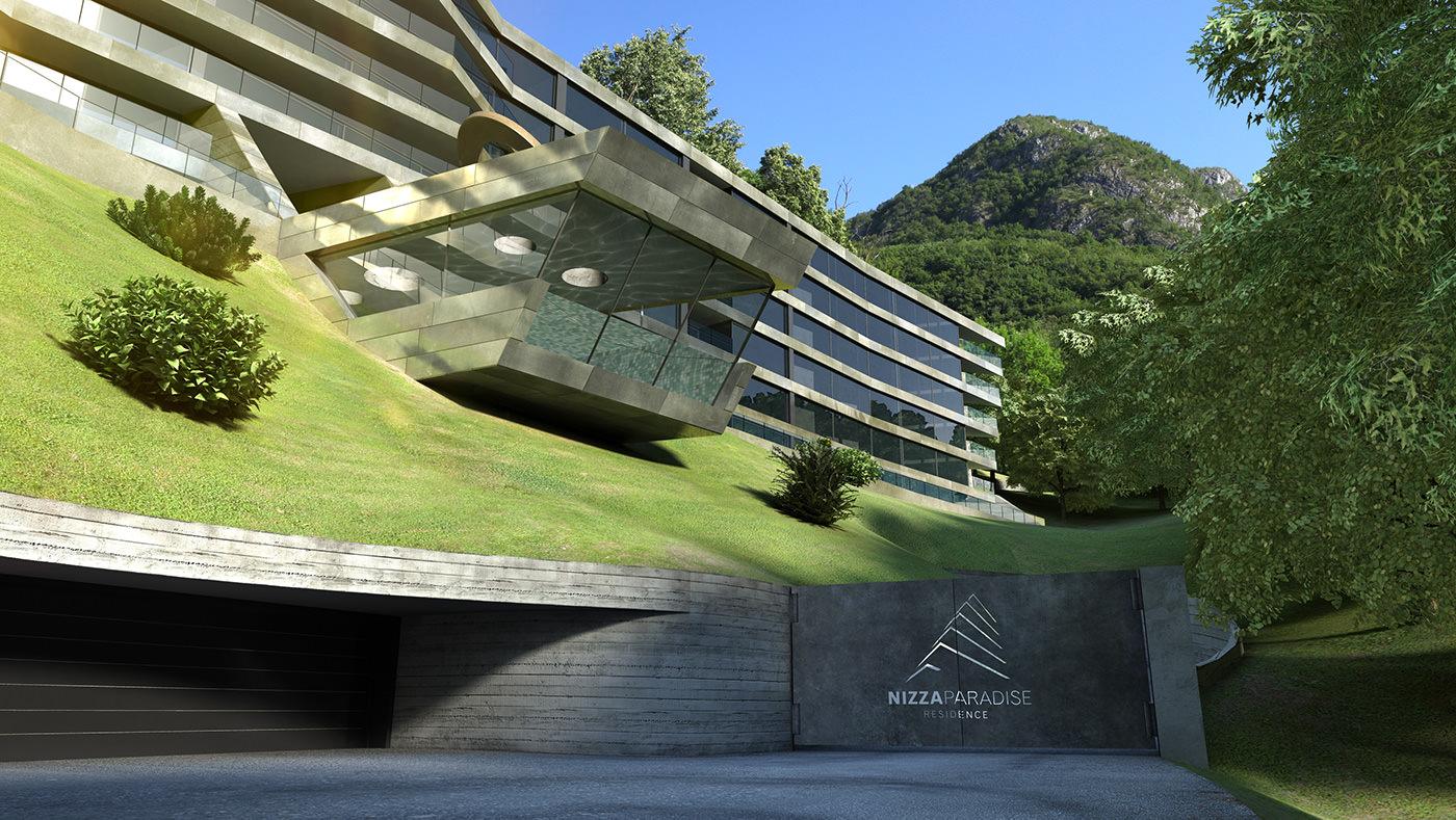 ingresso appartamenti bioedilizia verde lusso nizza paradise residence