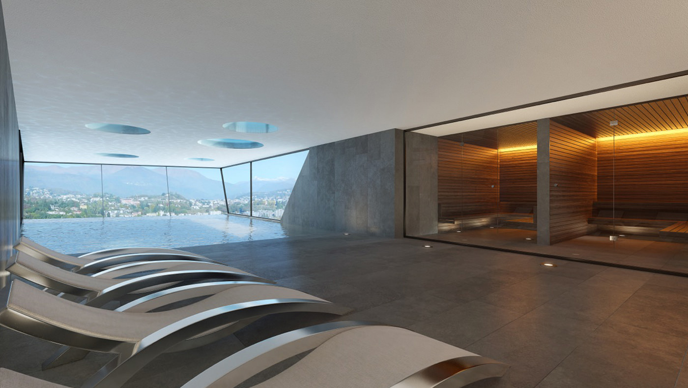 immobili di prestigio con spa lugano ticino svizzera