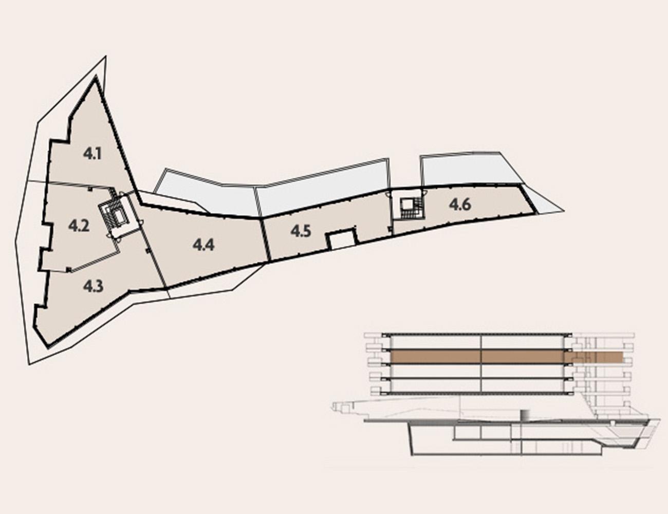 Pianta livello 4 appartamenti di design