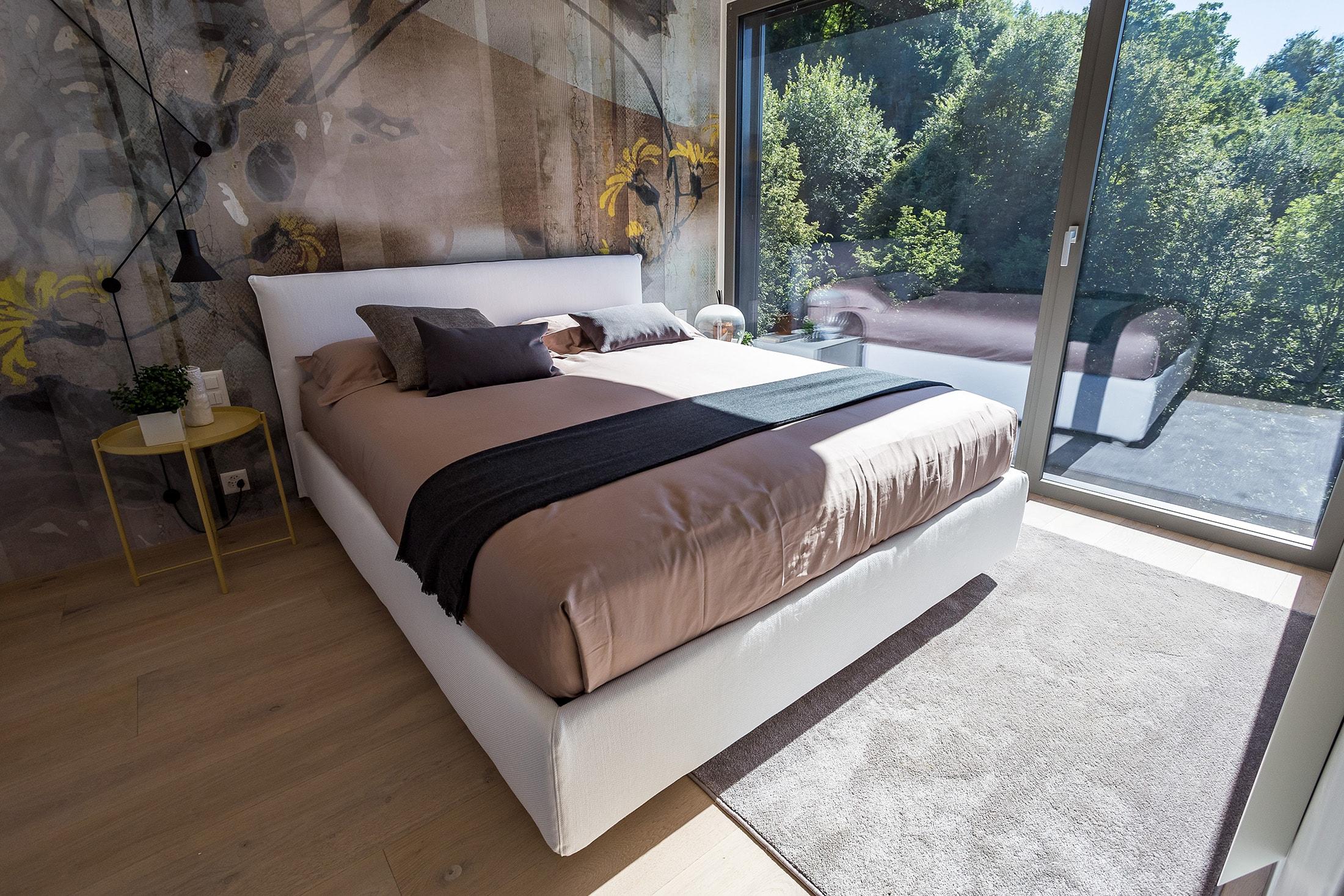 piano 2 vista bosco camera da letto