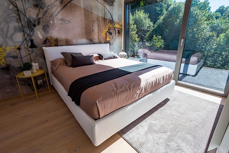 Appartamenti moderni design Lugano Ticino Svizzera camera da letto spettacolare