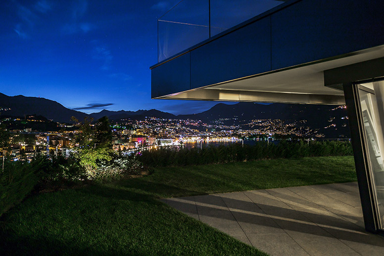Vivere a Lugano vista dal giardino Residenza