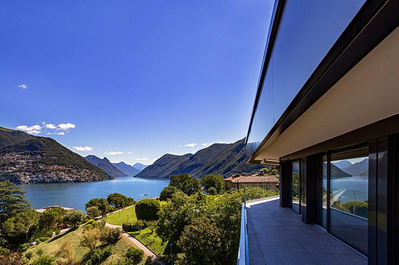Vivere a Lugano vista parco guidino terrazza residenza