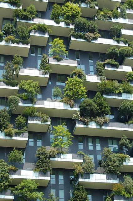 Биоархитектура вертикальный сад пример