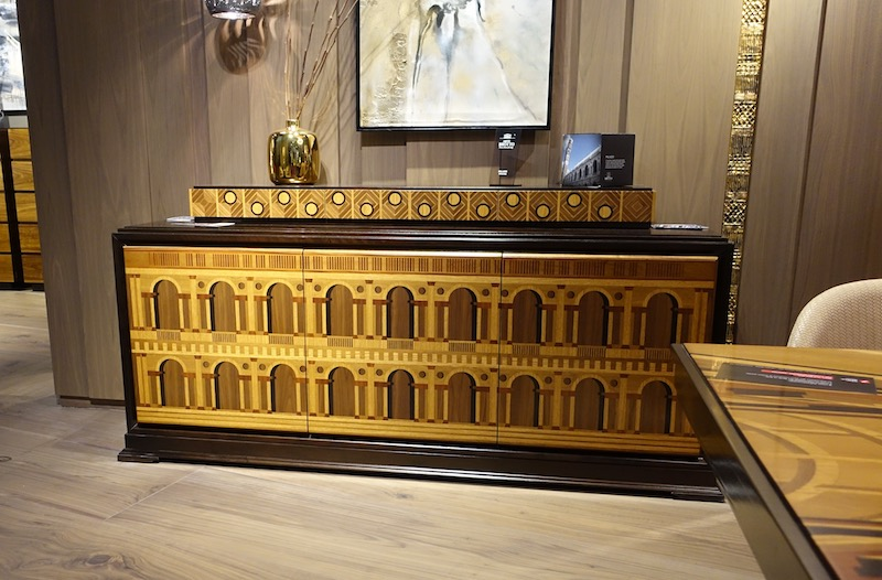 luxury interior design: carved wooden furniture