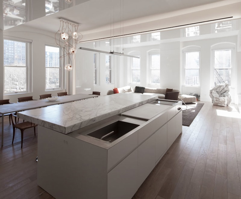 Minimal Cucine Total White Nizza Paradise Residence