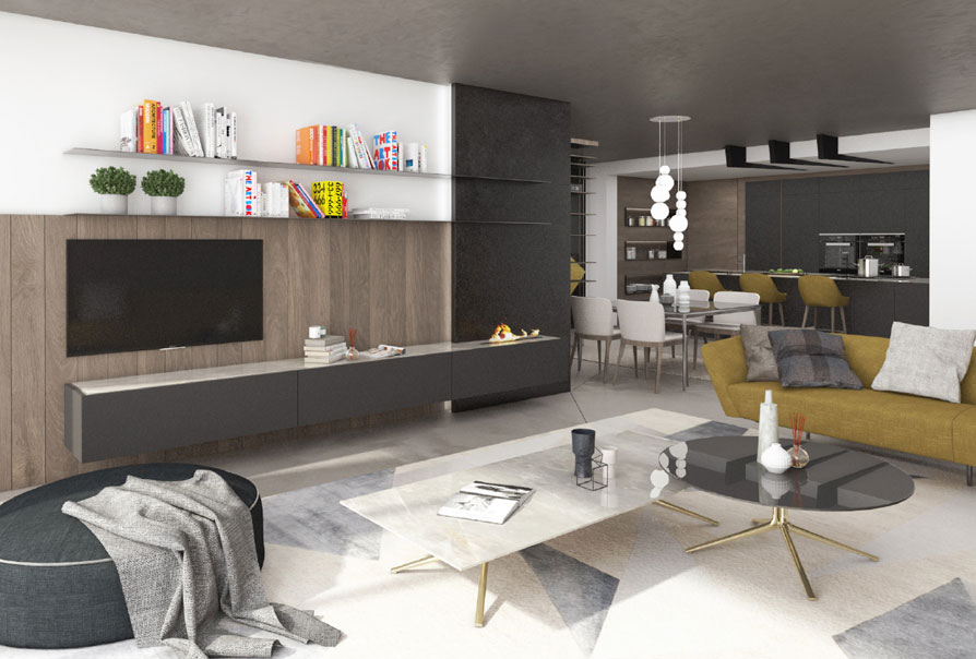 villa in svizzera soggiorno