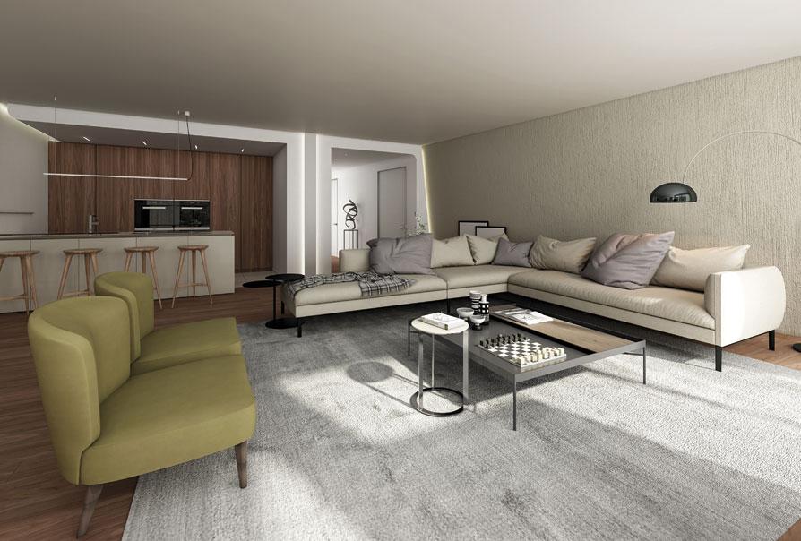 salotto con divani angolari