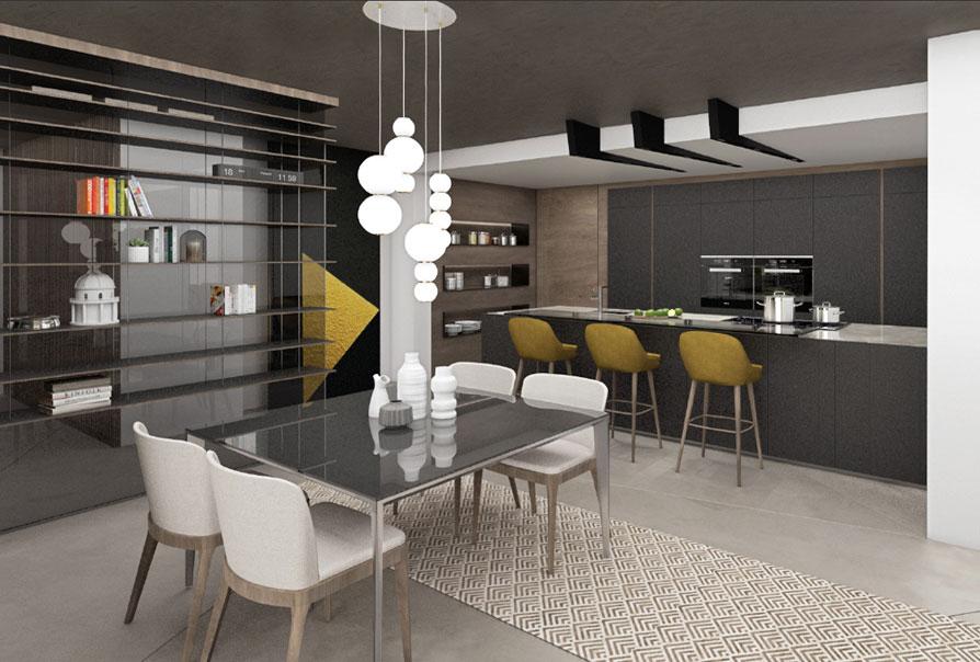 appartamenti design muzzano livello 0 appartamento 2 render