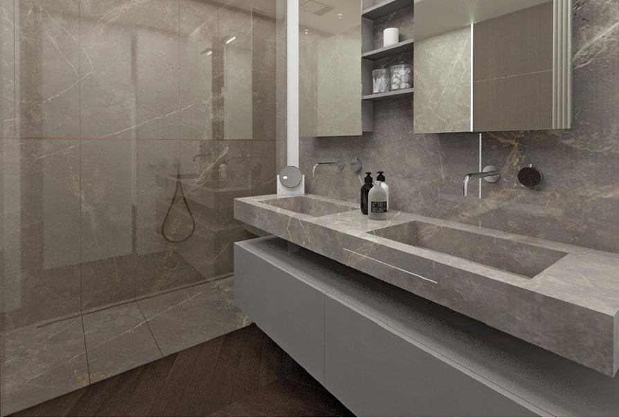 bagno in marmo elegante