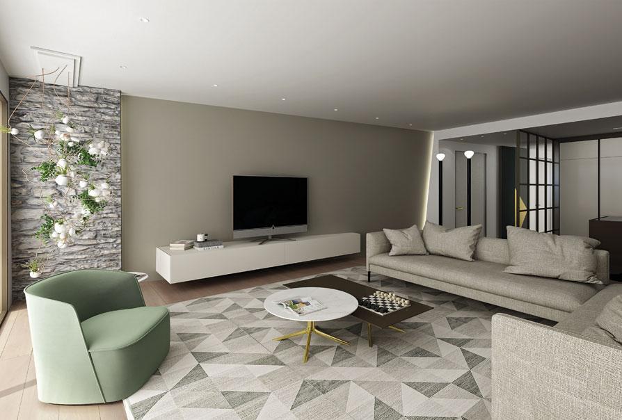 salotto moderno bianco lugano