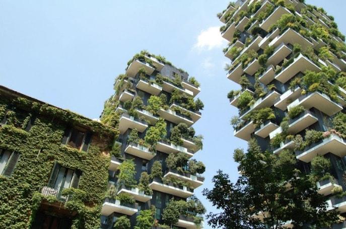 appartamenti moderni di lusso verde verticale