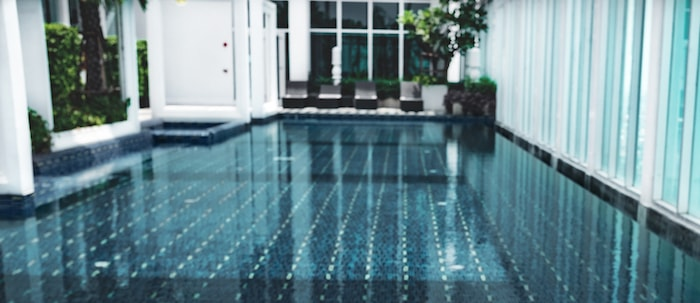 geometric swimming pool in your home
