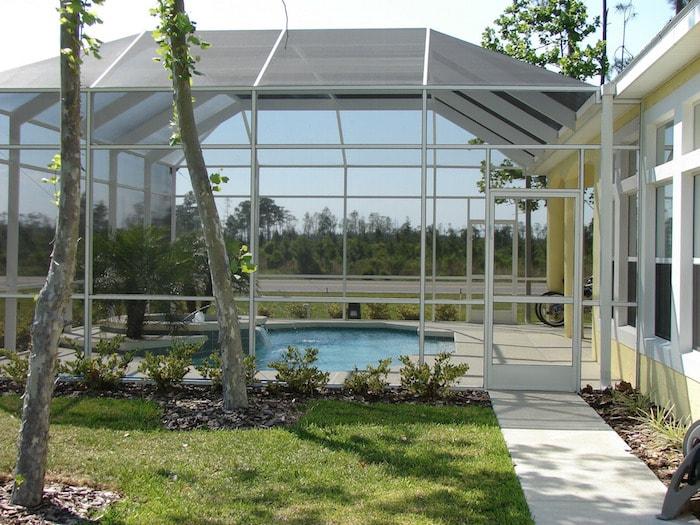 swimming pool glass veranda